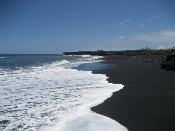 The Most Beautiful Accessable Black Sand Beach In Kona