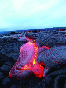 """Lava flow from March 2008 """"Up close and Personal"""" taken by Jennifer Jackson"""