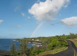 Rainbow over Kehena Beach