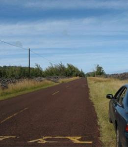 Red Road toward Kapoho