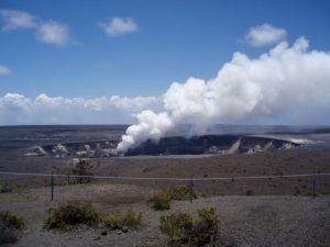 Sulphur plume at Halema'uma'u Crater