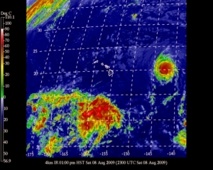 Hurricane Felicia turns West toward Big Island East Coast