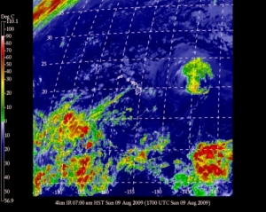 Current satellite view of Central Pacific Storms