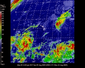 Current satellite image of Tropical Storm Felicia